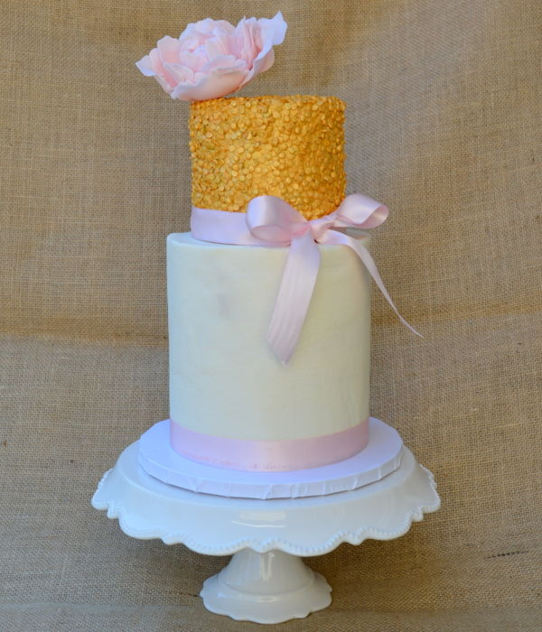 Gold Sequin Cake