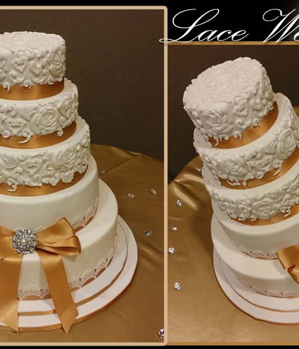 Lace Mold Wedding Cake