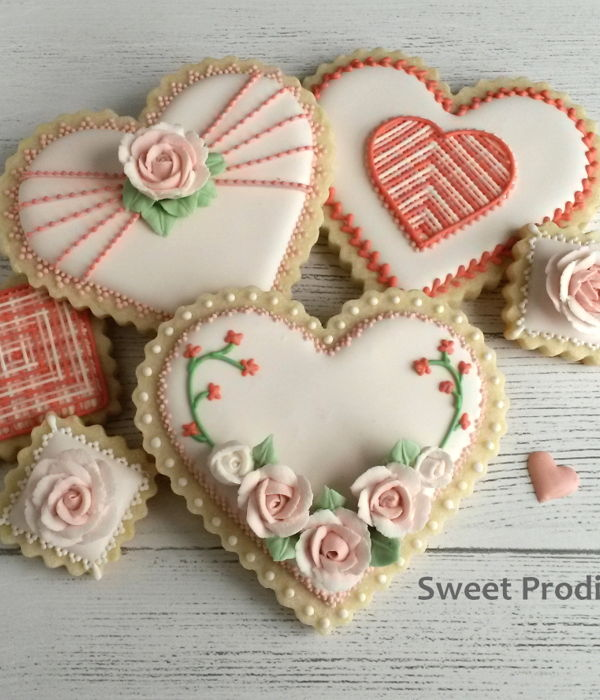 Valentine's Cookies - Hearts And Roses