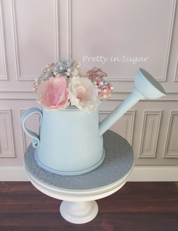Watering Can | Wafer Paper Flowers