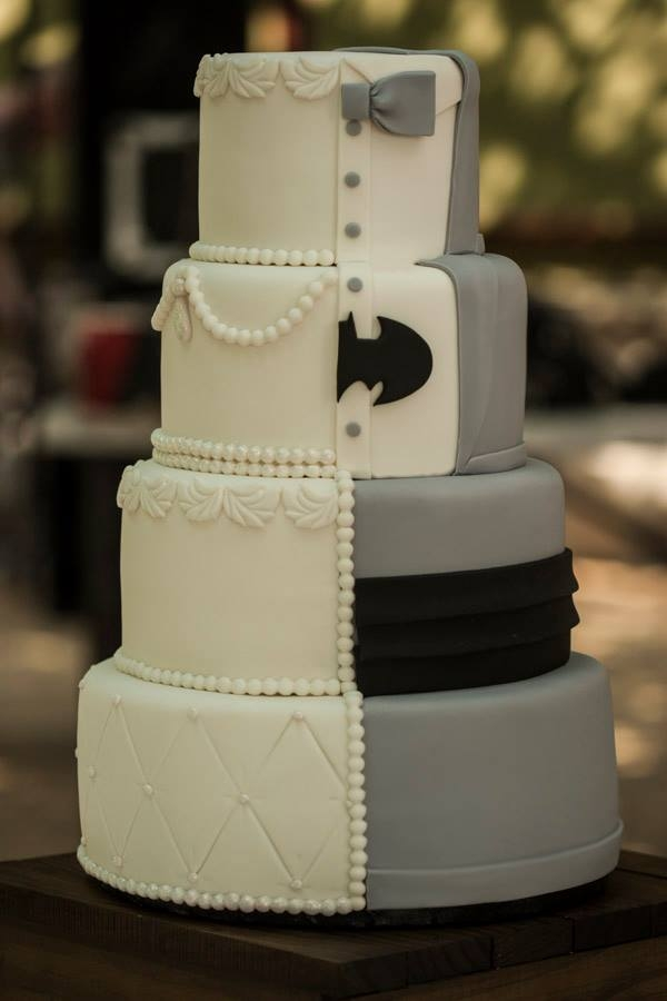 1 2 Batman Wedding Cake Cakecentral Com