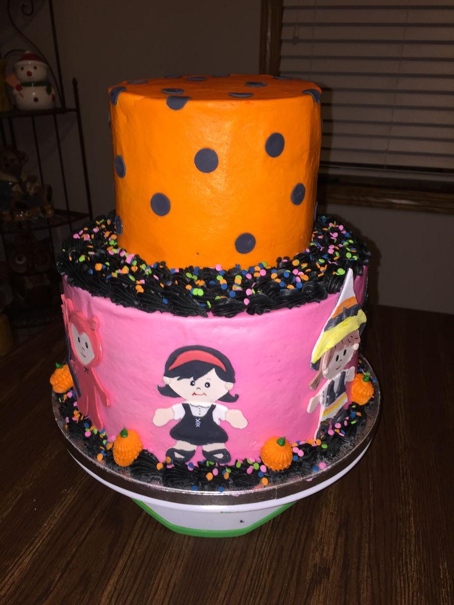 2 Tier Halloween Birthday Cake CakeCentralcom