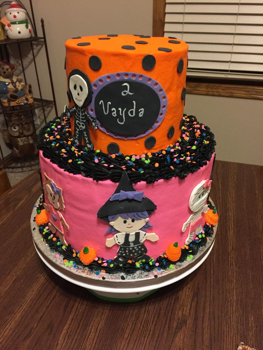 2 Tier Halloween Birthday Cake - CakeCentral.com