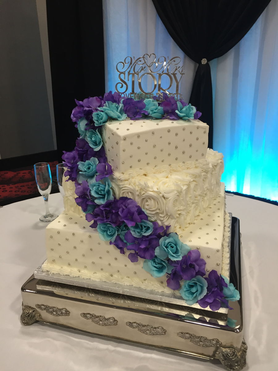 wedding cakes three tier square 3 tier wedding cake cakecentral 25713