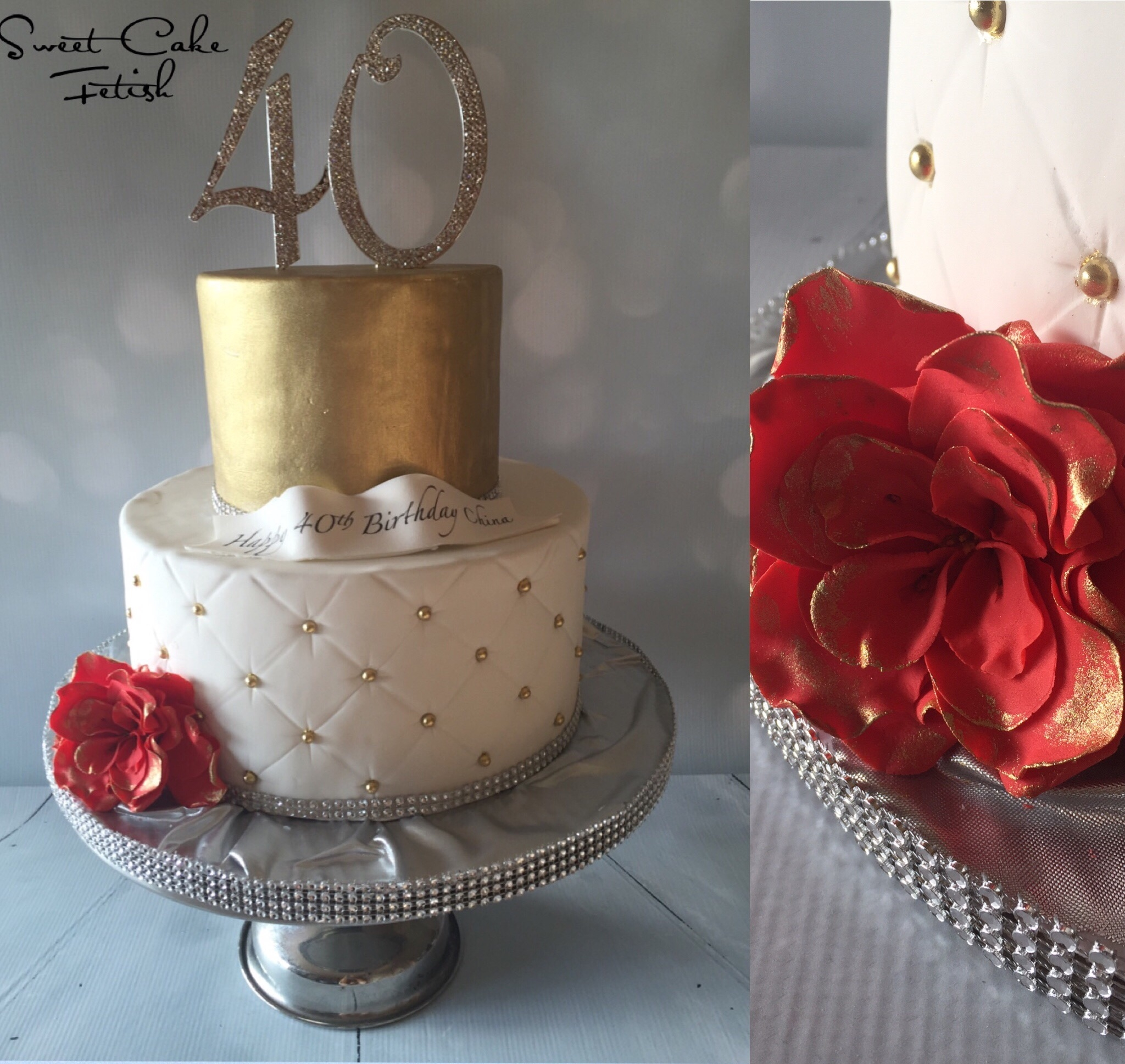 Th Birthday Cakes With Bling