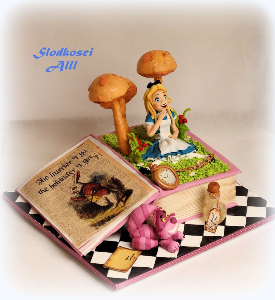Alice In Wonderland Cake on Cake Central