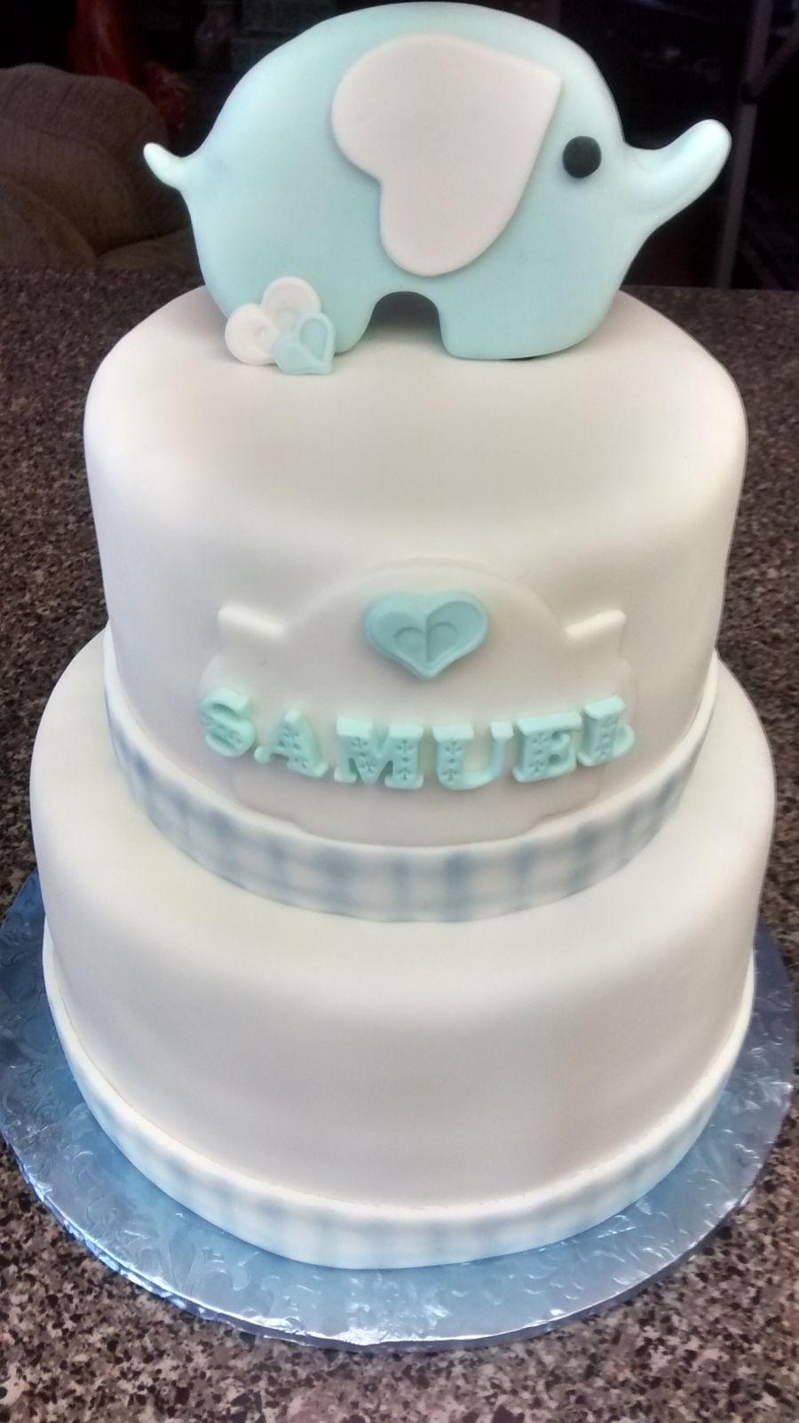 Elephant Baby Shower Cake Tutorial