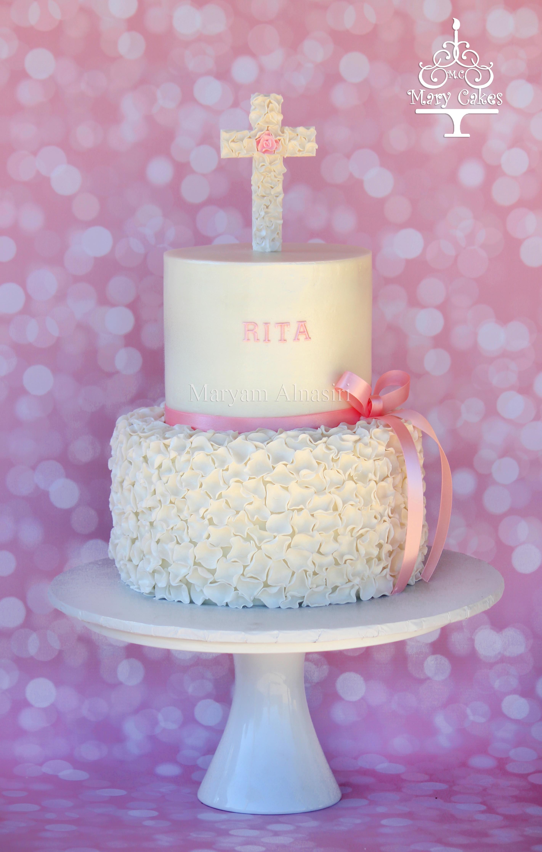 Cake Ideas For Girl Baptism : Baby Girl Baptism Cake - CakeCentral.com