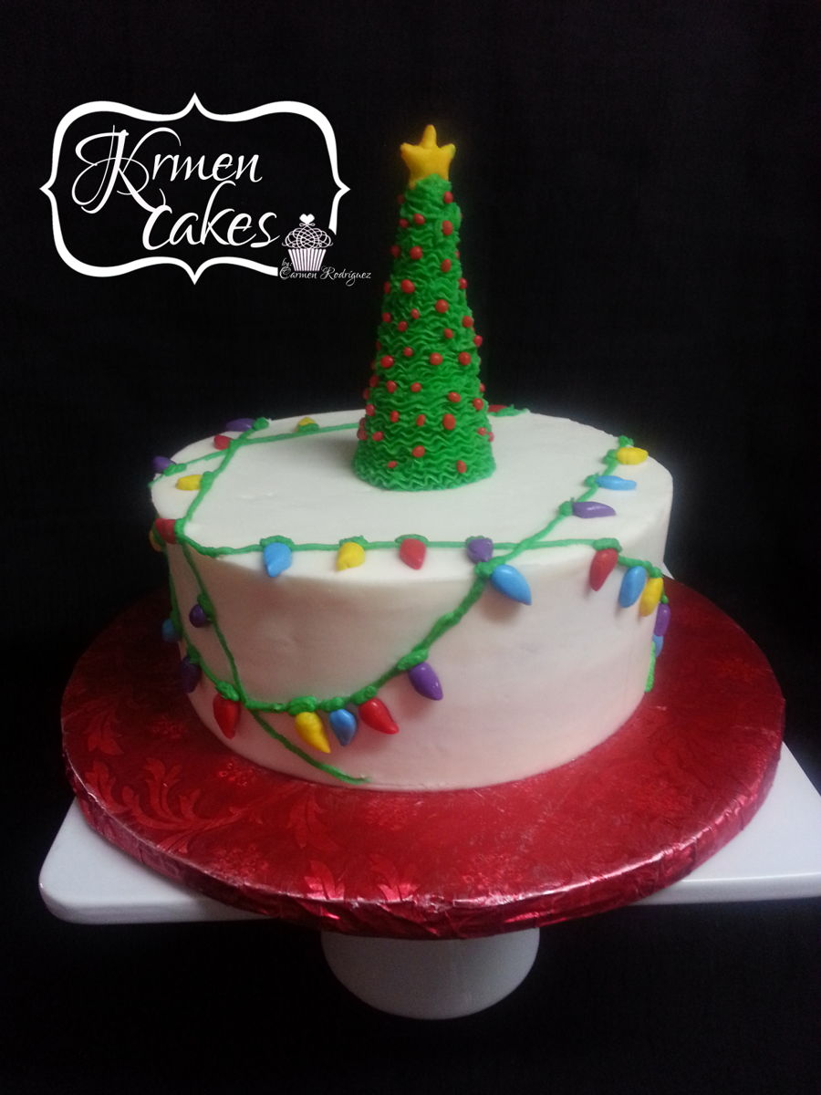 Christmas Lights Cake on Cake Central