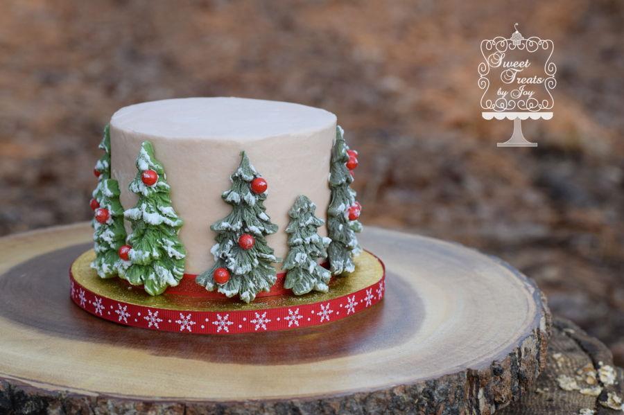 Christmas Tree Smash Cake - CakeCentral.com