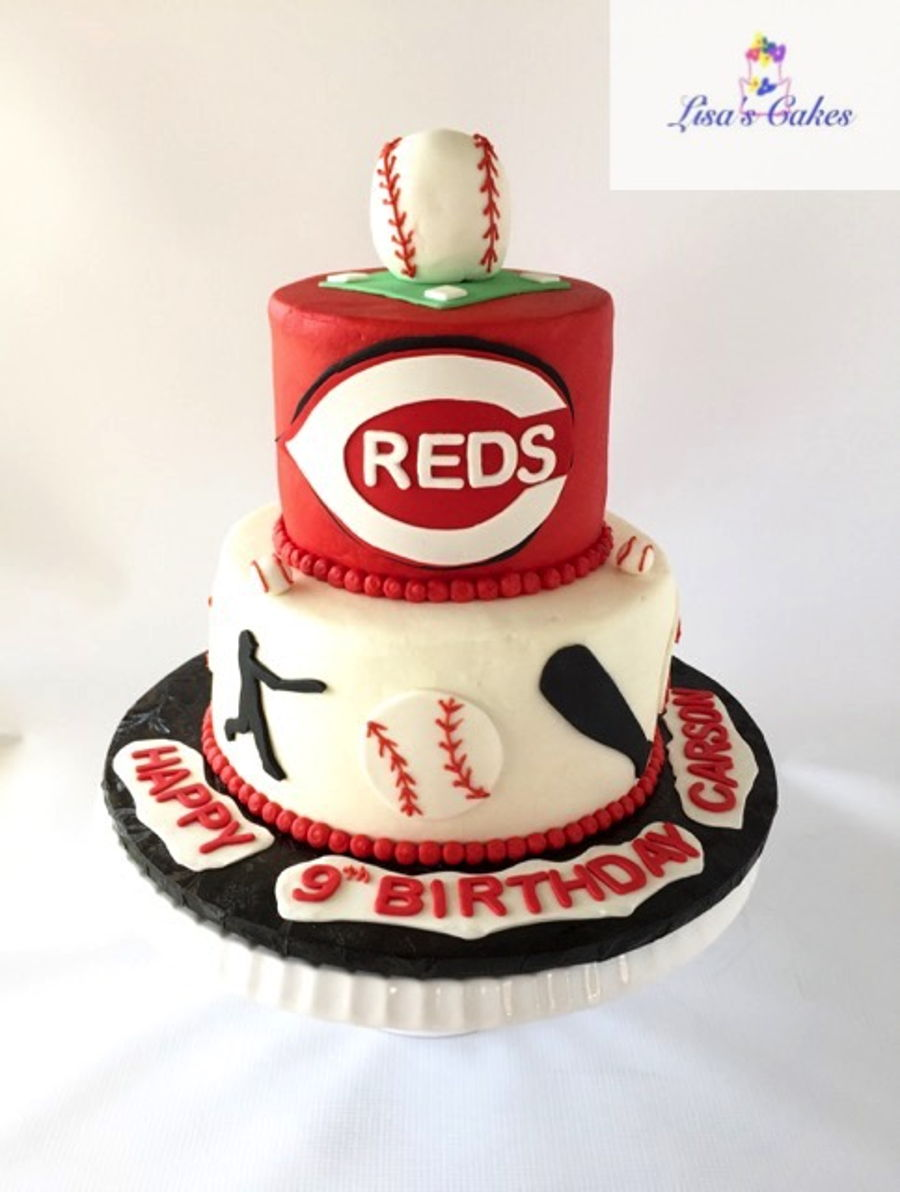 Cincinnati Reds Baseball Birthday Cake CakeCentralcom
