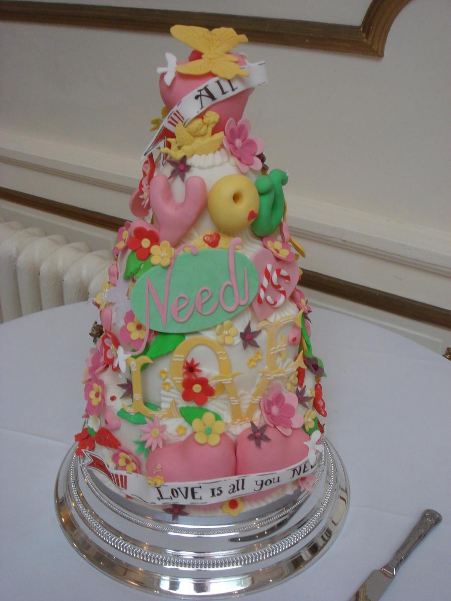 colourful wedding cake cakecentralcom