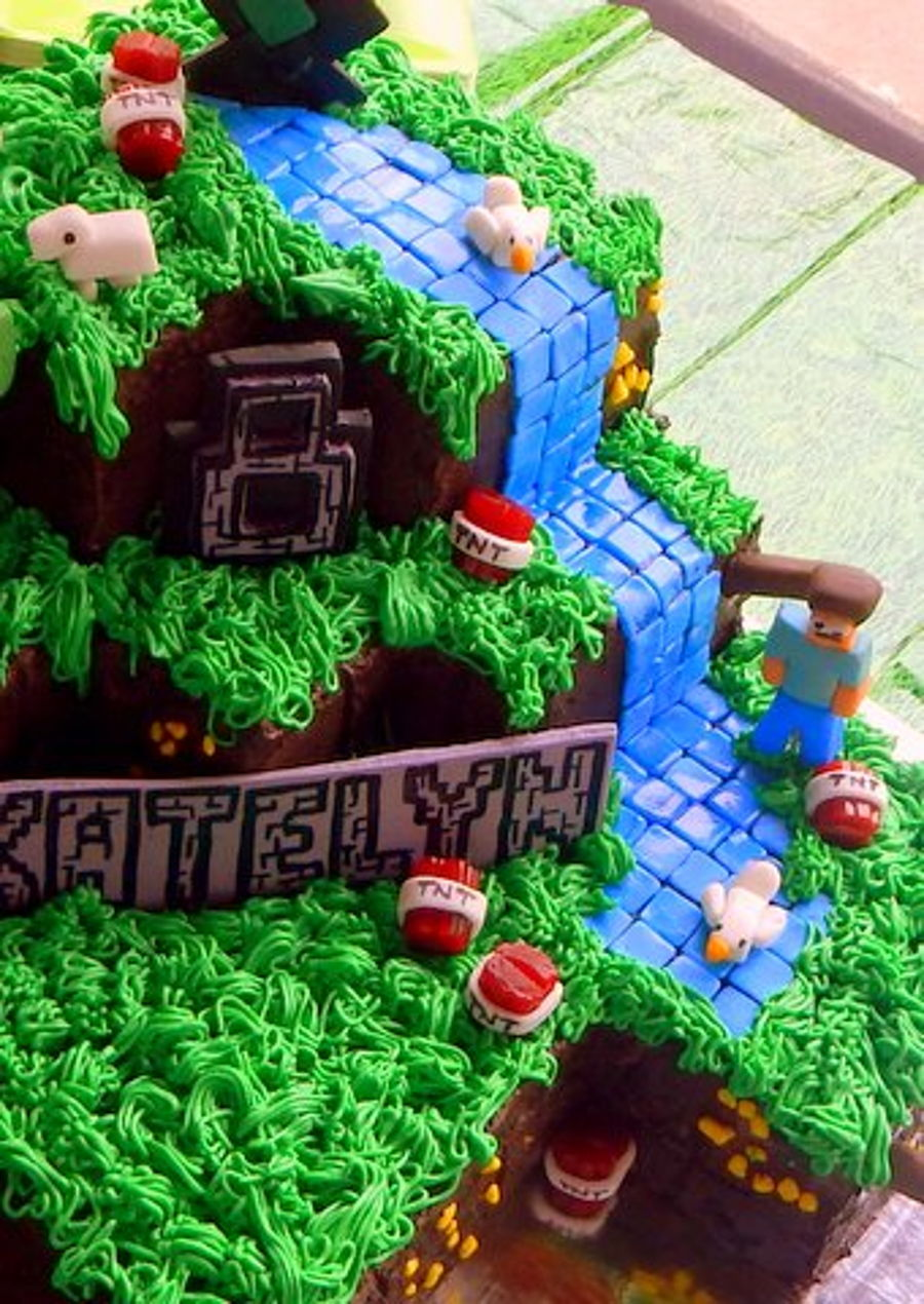 Detail From Minecraft Waterfall Cakecentral Com