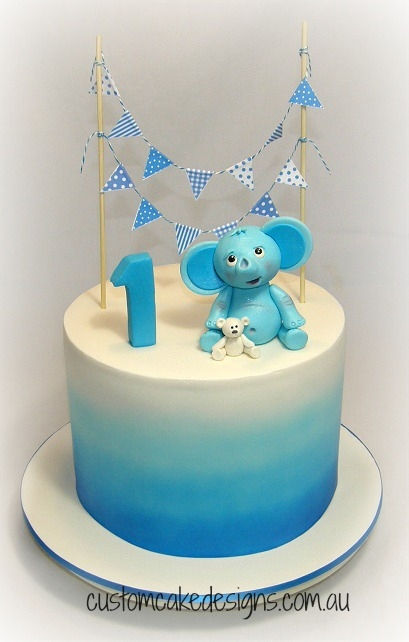 Cake Decorating For First Birthday : Elephant 1St Birthday Cake - CakeCentral.com