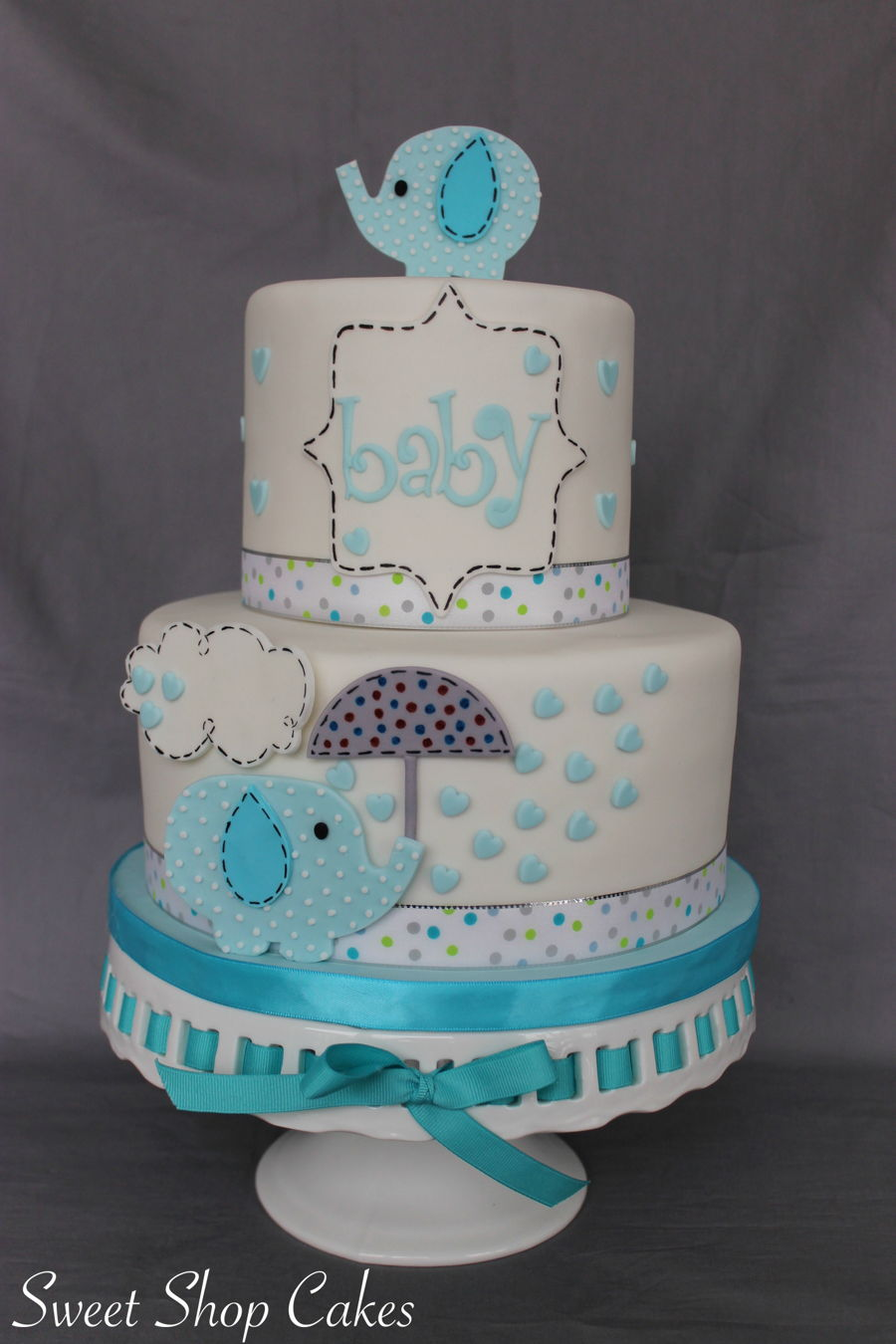 we also make this elephant themed cake for a baby shower it matches