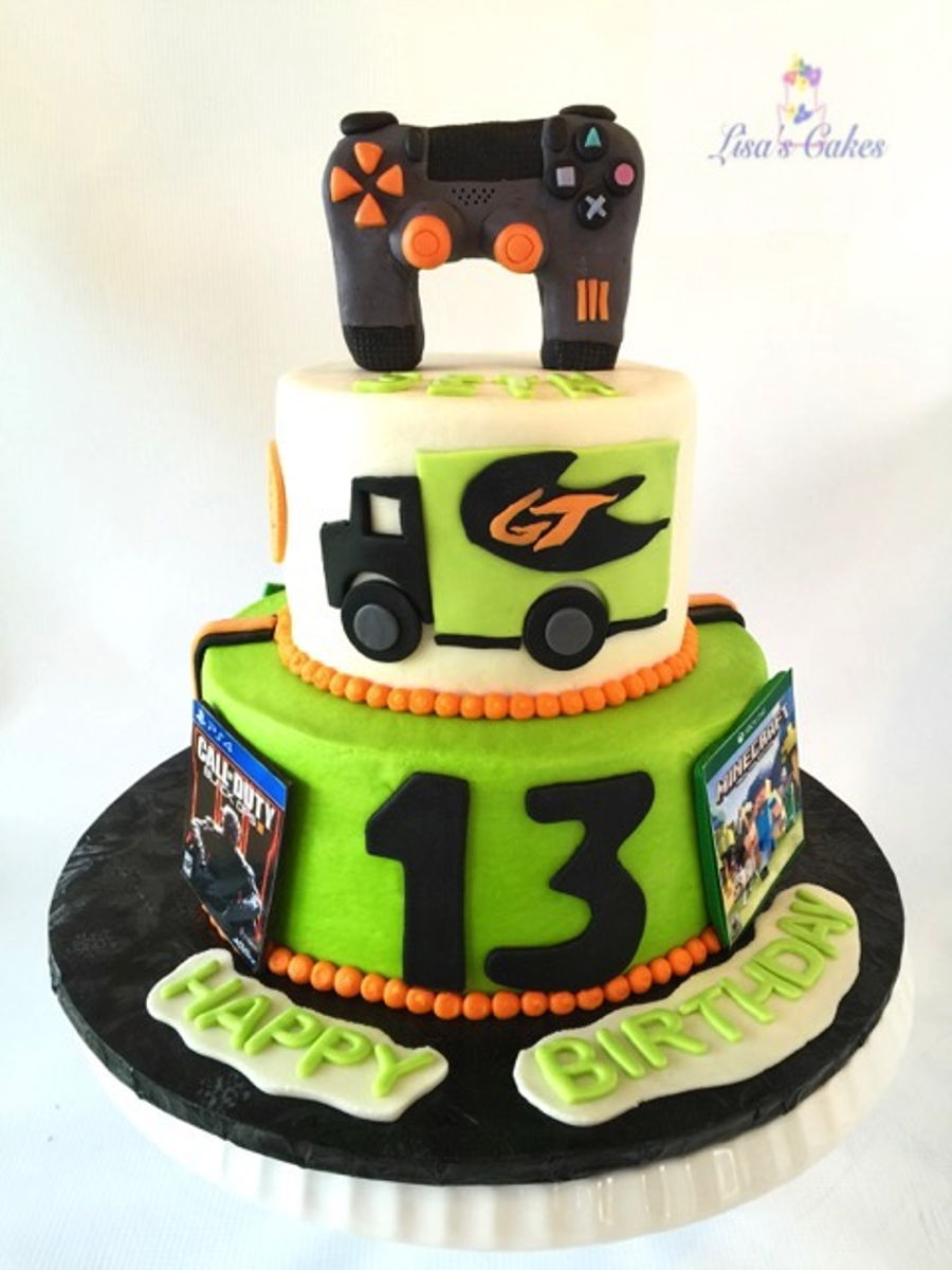Game Truck Birthday Cake On Central