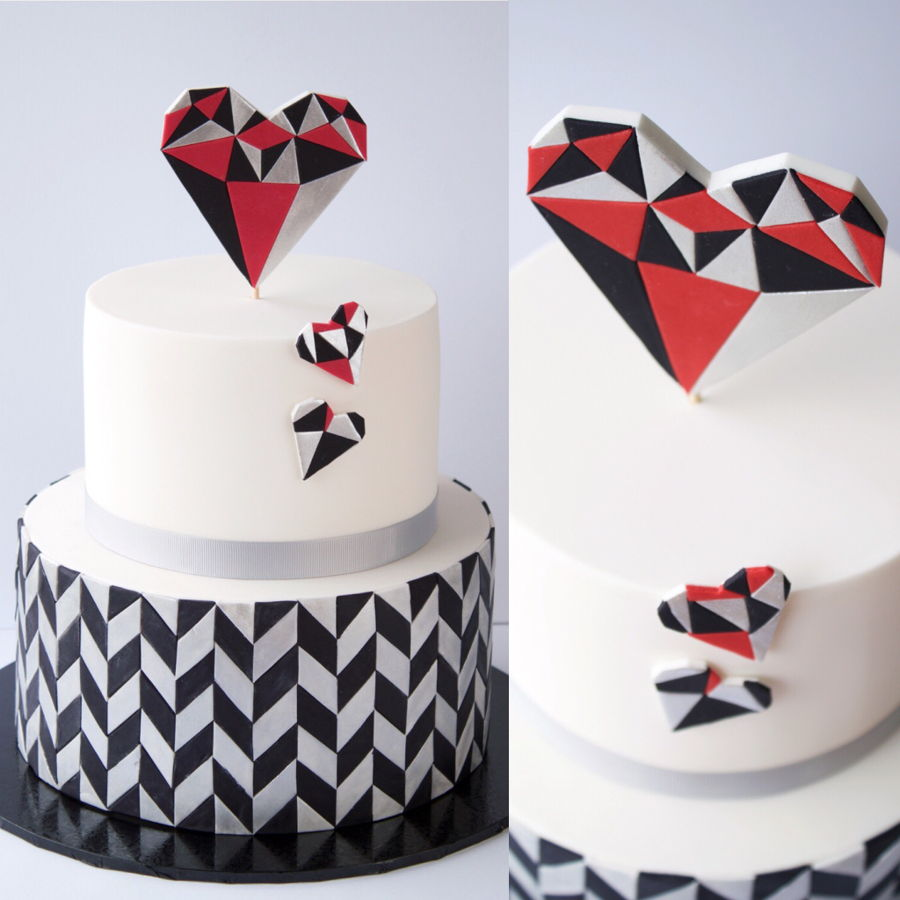 Heart And Star Cake Topper
