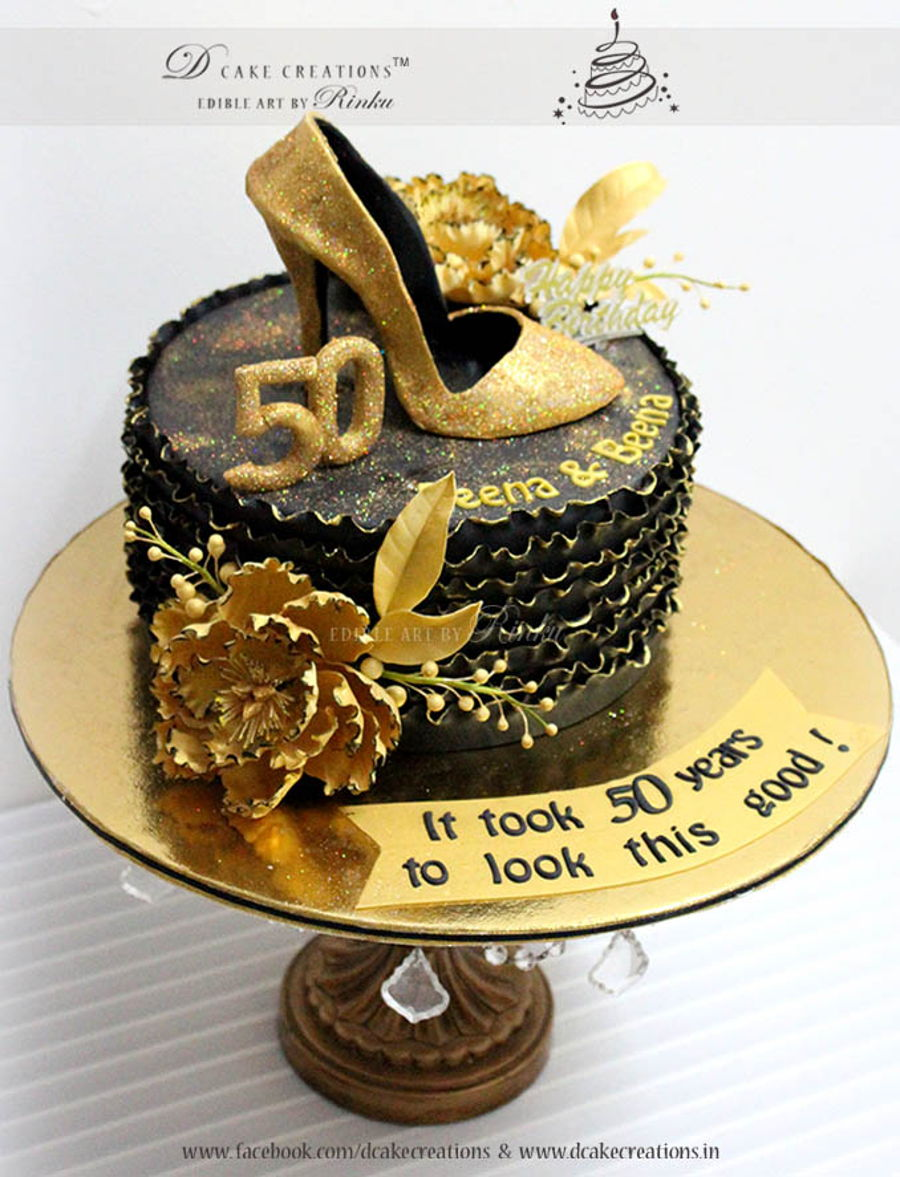 Pleasing Gold Shoe Cake Cakecentral Com Funny Birthday Cards Online Eattedamsfinfo
