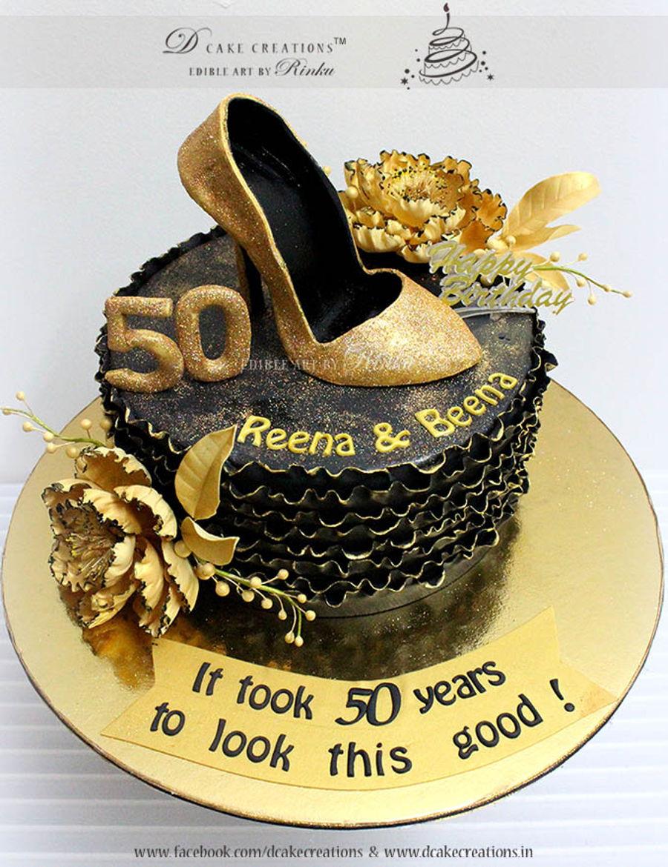 Gold Shoe Cake Cakecentral Com