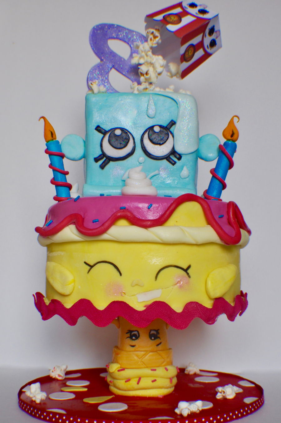 Gravity Defying Shopkins on Cake Central