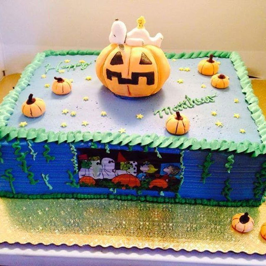 Halloween Sheet Cake Decorating Ideas : Halloween Snoopy Cake - CakeCentral.com
