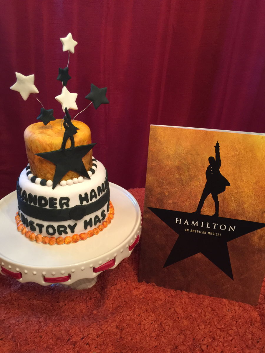 Swell Hamilton The Musical Birthday Cake Cakecentral Com Funny Birthday Cards Online Fluifree Goldxyz