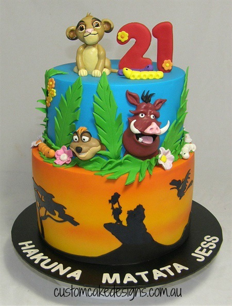 Lion King Cake Decoration Ideas : Lion King 21St Cake - CakeCentral.com