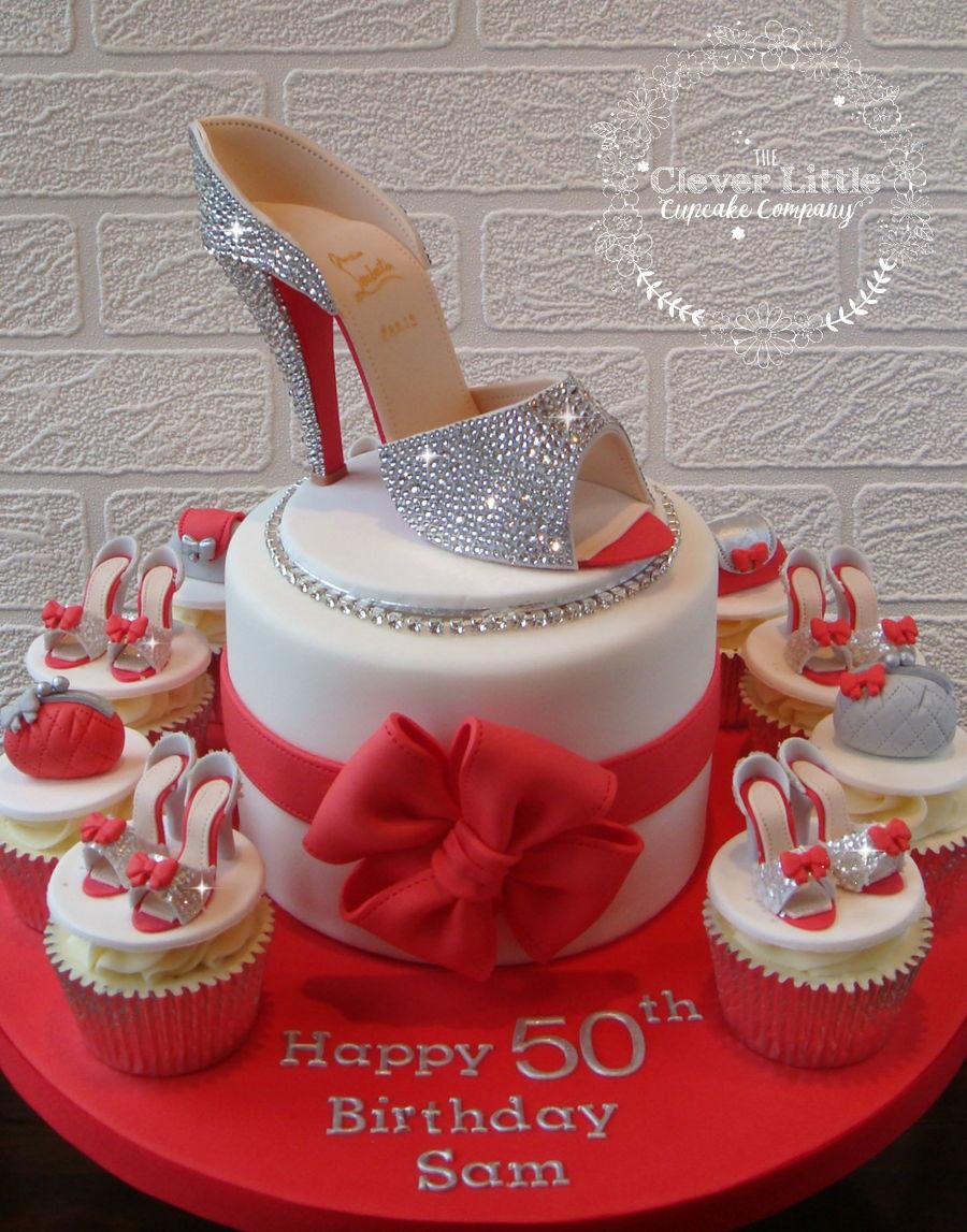 Louboutin Swarovski Crystal Shoe Cake Cakecentral Com