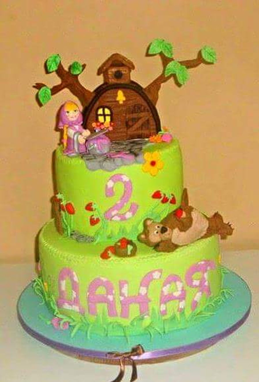 Masha And The Bear Birthday Cake CakeCentralcom