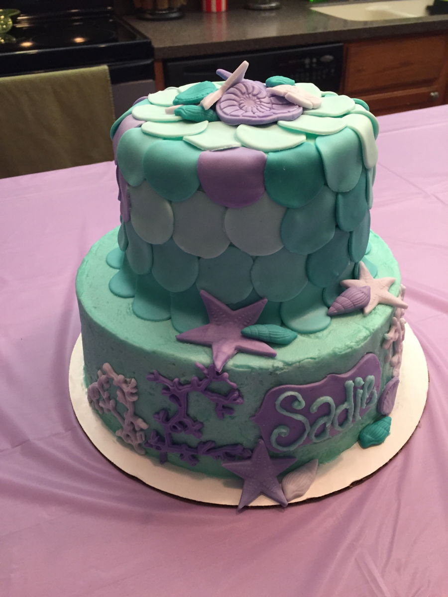 Mermaid Themed Cake - CakeCentral.com