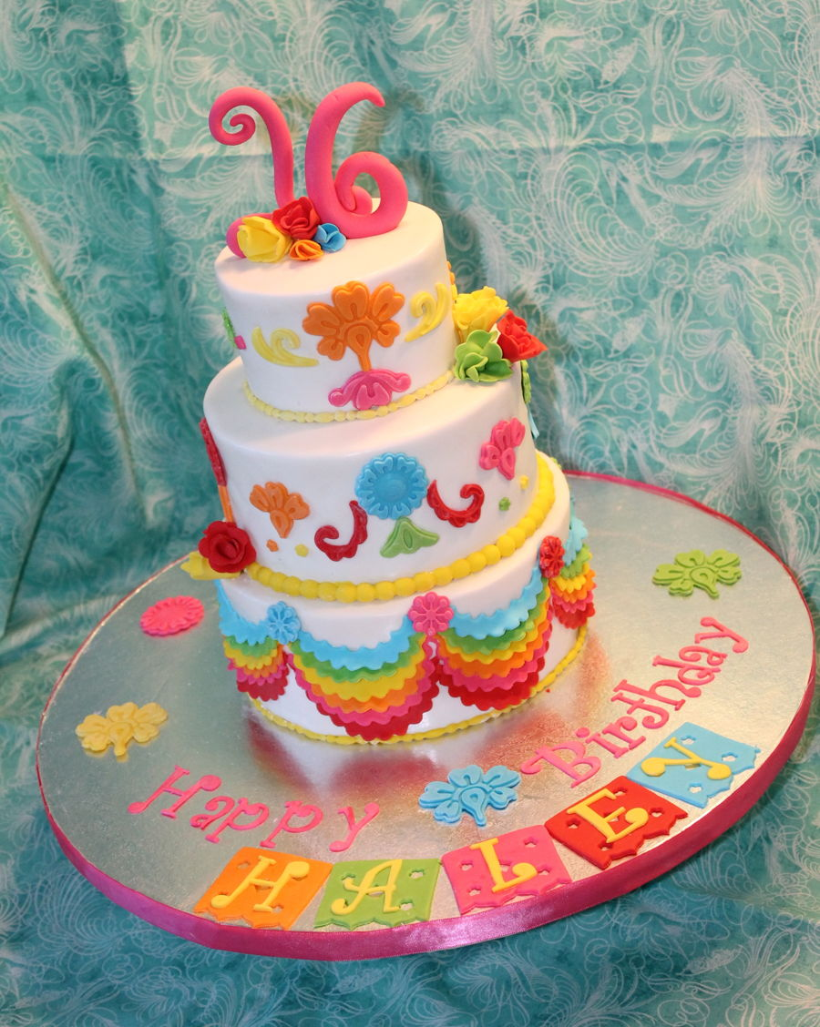 Mexican Fiesta Sweet Sixteen - CakeCentral.com