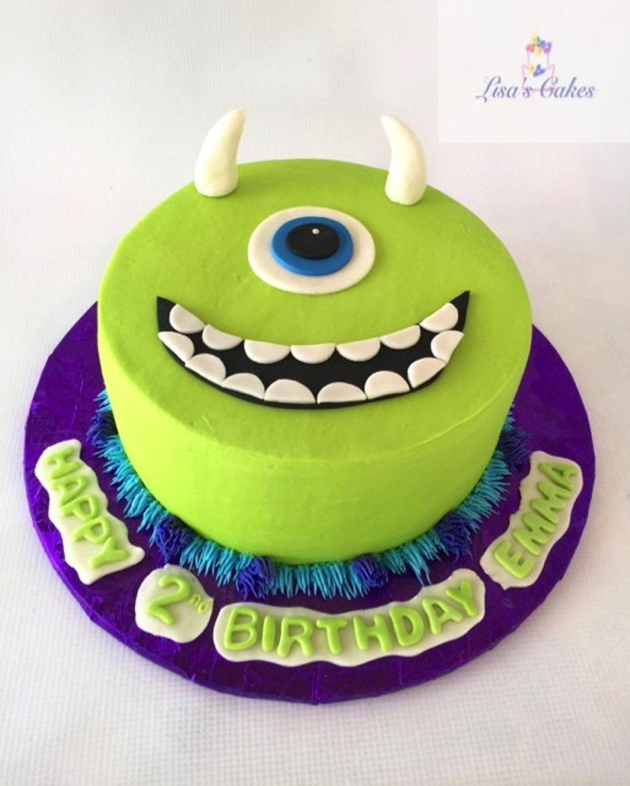 Incredible Monster Inc Birthday Cake Cakecentral Com Personalised Birthday Cards Veneteletsinfo