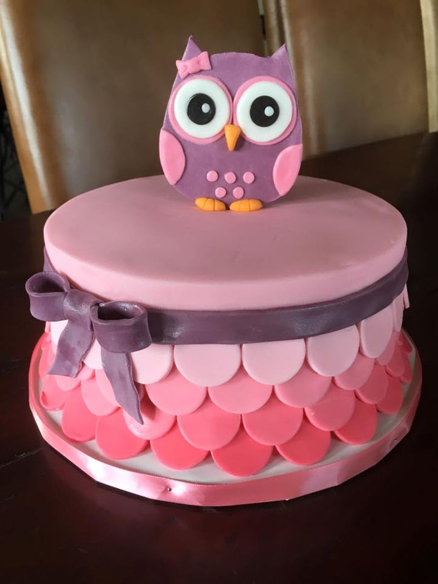 Owl Cakes For Girl Baby Shower