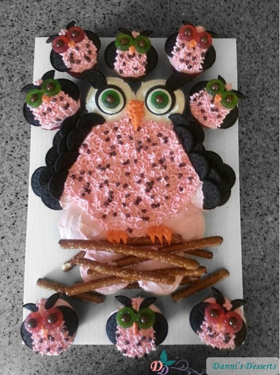 Owl Cupcake Cake Cakecentral Com
