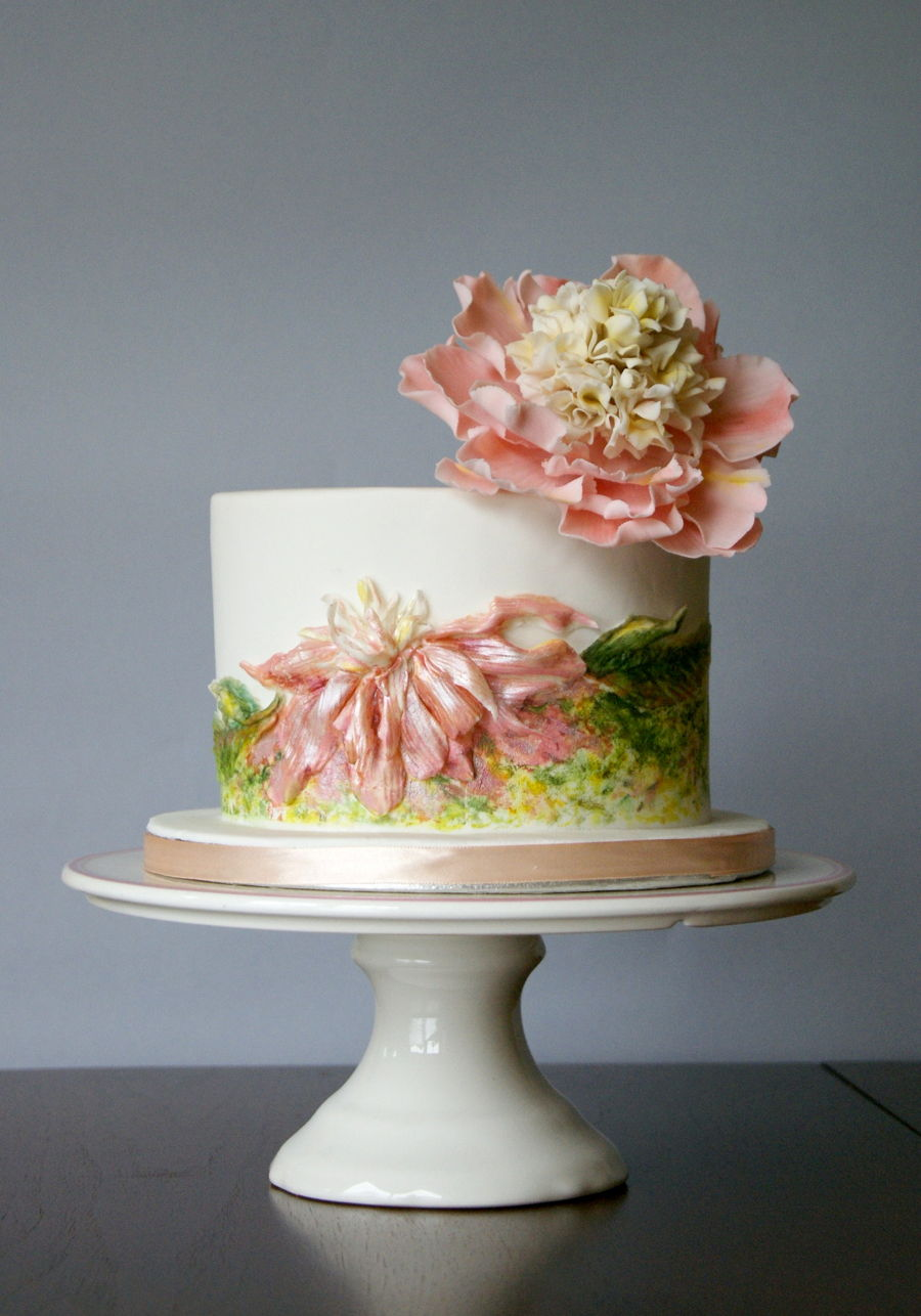 Peonies on Cake Central