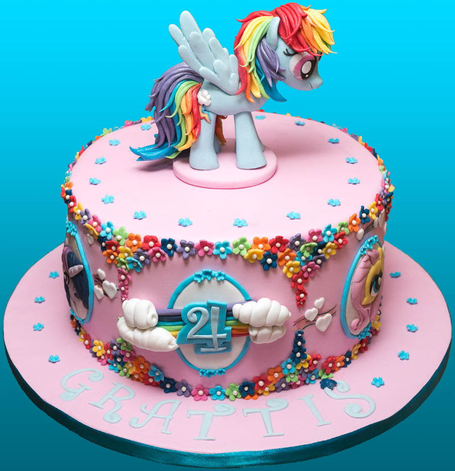 Rainbow Dash Cake on Cake Central