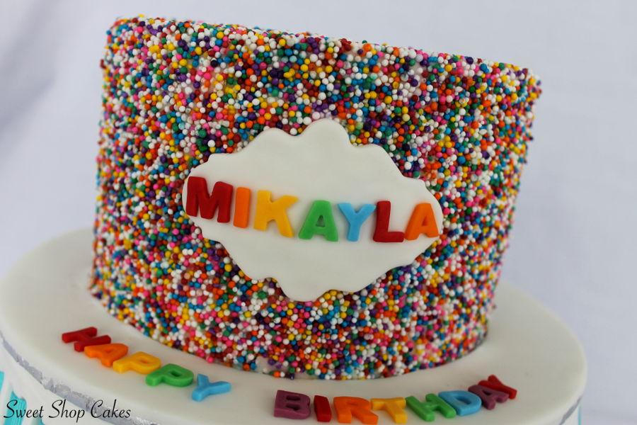 Surprising Rainbow Sprinkle Birthday Cake Cakecentral Com Personalised Birthday Cards Paralily Jamesorg