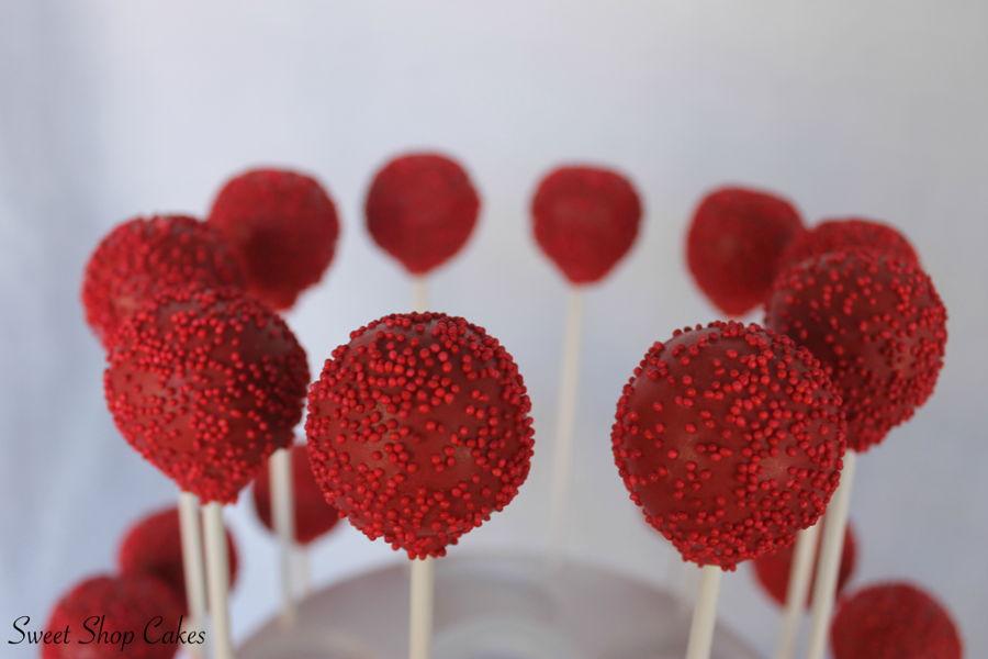 Red Cake Pops With Sprinkles - CakeCentral.com