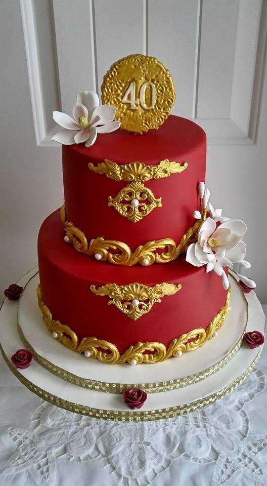designs for ruby wedding cakes ruby 40th anniversary cake cakecentral 13479