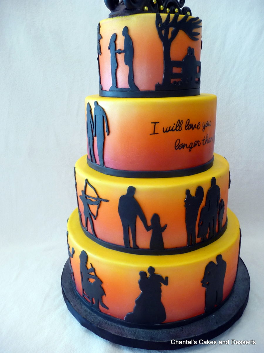 Silhouette 50th Anniversary Cake Cakecentral Com