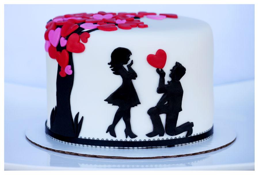 Silhouette Anniversary Cake Cakecentral Com