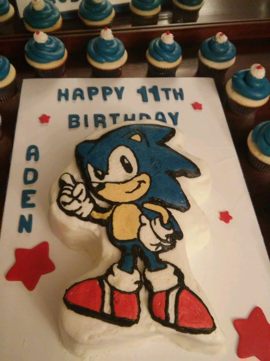 Phenomenal Sonic The Hedgehog Birthday Cake Cakecentral Com Funny Birthday Cards Online Bapapcheapnameinfo