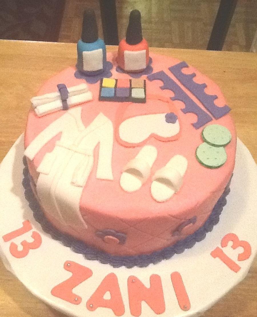 Marvelous Spa Themed Birthday Cake Cakecentral Com Personalised Birthday Cards Xaembasilily Jamesorg