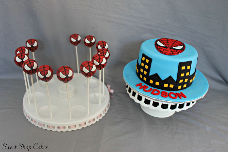 how to make spiderman cake pops