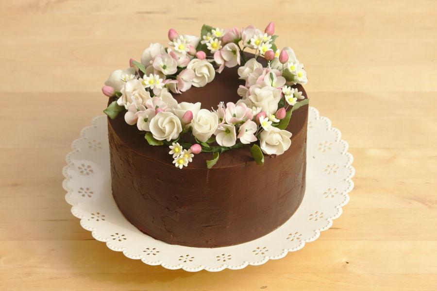 Spring Floral Wreath Cake Cakecentral Com