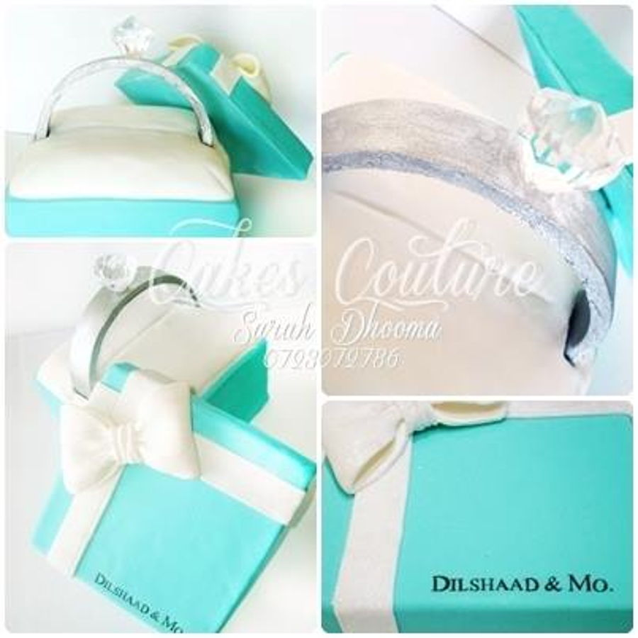 Tiffany And Co Engagement Cake - CakeCentral.com
