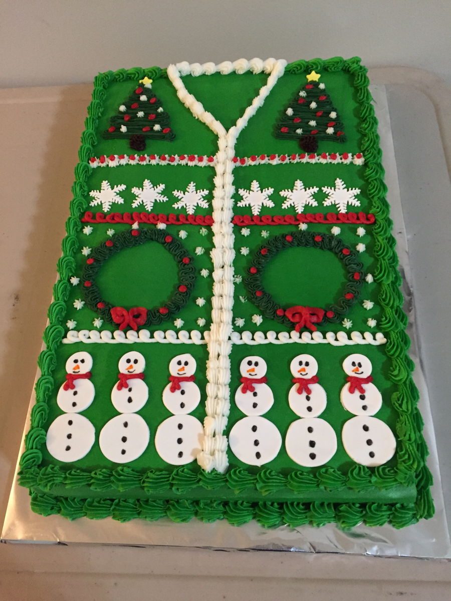 Ugly Sweater Cakes Cakecentral Com