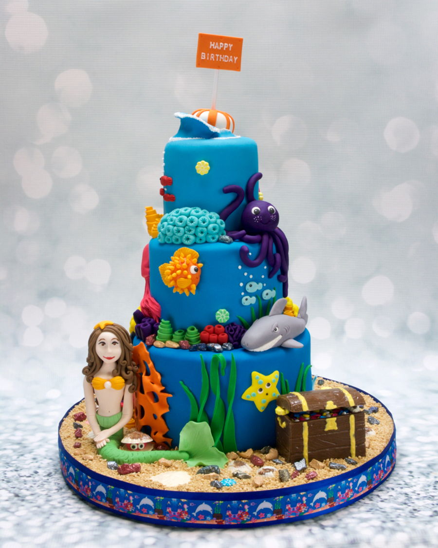 Wondrous Under The Sea Birthday Cake Cakecentral Com Funny Birthday Cards Online Eattedamsfinfo