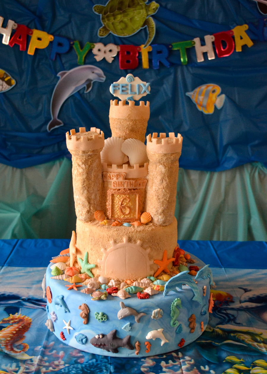 Under The Sea Sand Castle Cakecentral