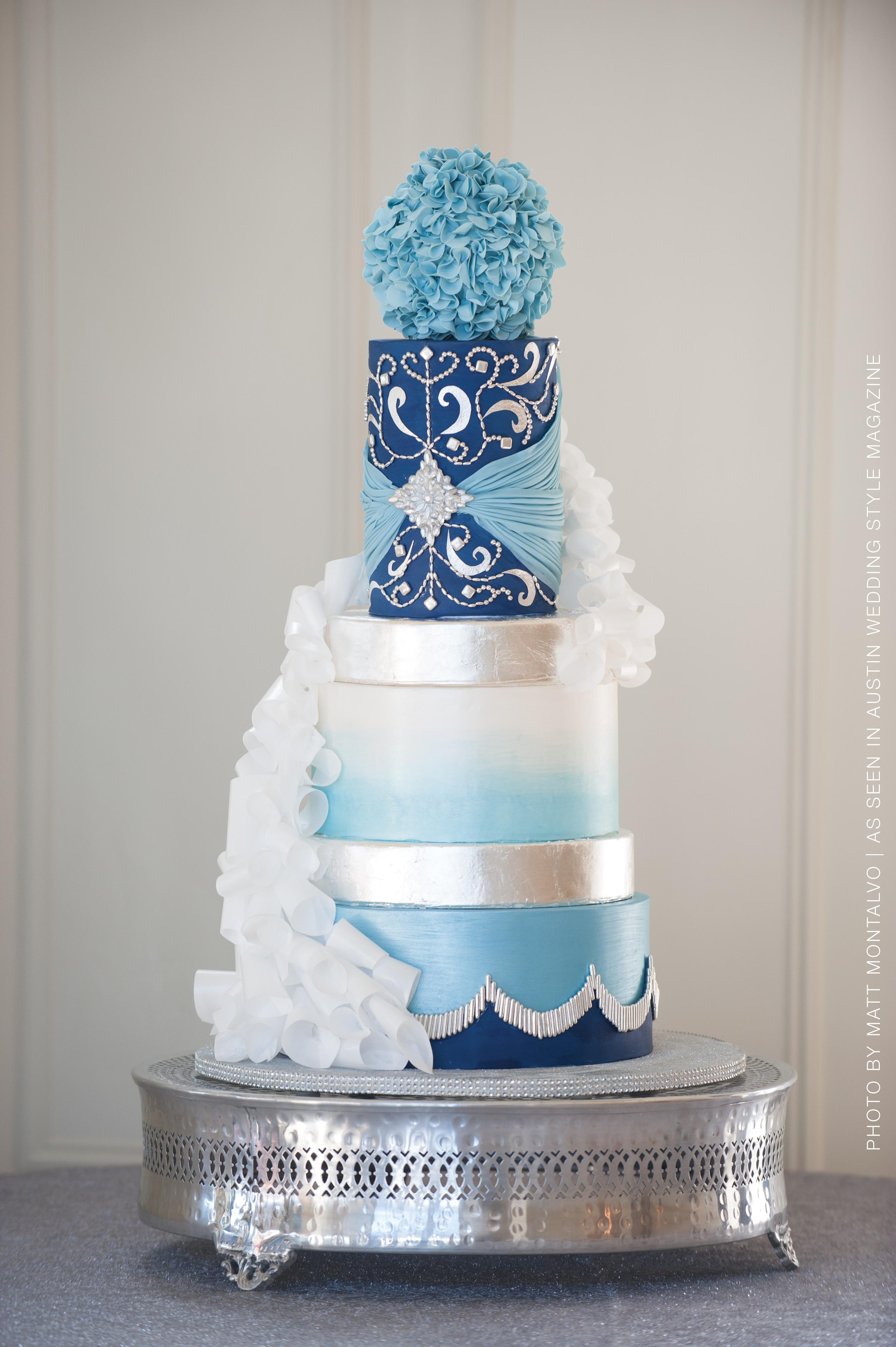 Wintry Wedding Cake - CakeCentral.com